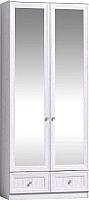 Шкаф Глазов Paola 74 2-х дверный с зеркалом (ясень анкор светлый) -