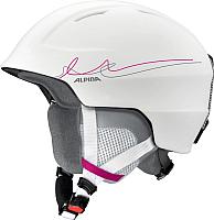 Шлем горнолыжный Alpina Sports Chute / A9098-12 (р-р 58-61, белый/розовый/серый) -