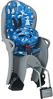 Детское велокресло Hamax Kiss Safety Package + шлем / HAM551088 (серый/синий) -