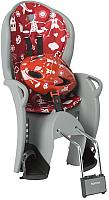 Детское велокресло Hamax Kiss Safety Package + шлем / HAM551058 (серый/красный) -