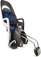 Детское велокресло Hamax Caress With Lockable Bracket / HAM553002 (серый/белый/синий) -