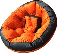 Бескаркасное кресло-трансформер Angellini 9с0013тр (L, оранжевый/серый) -