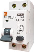 Дифференциальный автомат КС АВДТ-32 2P С 16А/30мА -