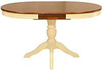 Обеденный стол Оримэкс Рондо-ОВ (орех/слоновая кость) -