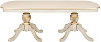 Обеденный стол Оримэкс Консул-Т (беленый дуб с бронзовой патиной) -