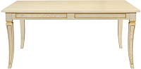 Обеденный стол Оримэкс Сенатор (слоновая кость с бронзовой патиной) -