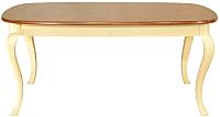 Обеденный стол Оримэкс Руан (орех/слоновая кость) -