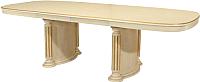 Обеденный стол Оримэкс Элит (молочный дуб с бронзовой патиной) -