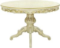 Обеденный стол Оримэкс Ампир-К (молочный дуб с бронзовой патиной) -