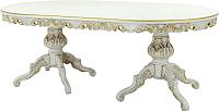 Обеденный стол Оримэкс Ампир (беленый дуб с бронзовой патиной) -