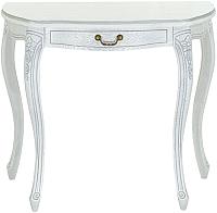 Консольный столик Оримэкс Лацио-ОВ (беленый дуб с серебряной патиной/резьба) -
