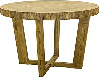 Обеденный стол Оримэкс Крафт-К (светлый дуб с черной патиной) -