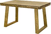 Обеденный стол Оримэкс Соло-СМ (светлый дуб с черной патиной) -