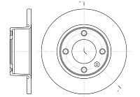 Тормозной диск Remsa 643300 -