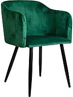 Кресло мягкое Седия Orly (зеленый велюр HLR56/черный) -