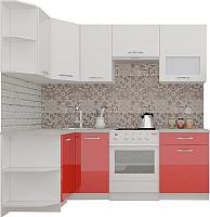 Готовая кухня ВерсоМебель ЭкоЛайт-5 1.2x2.1 левая (белый/красный) -