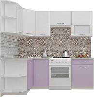 Готовая кухня ВерсоМебель ЭкоЛайт-5 1.2x2.1 левая (белый/вереск) -