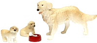 Комплект аксессуаров для кукольного домика Lundby Пес семьи со щенками / LB-60805500 -