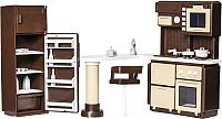 Комплект аксессуаров для кукольного домика Огонек Мебель для кухни. Коллекция / С-1298 -