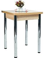 Обеденный стол Рамзес Ломберный ЛДСП 60x60 (дуб сонома светлый/хром) -