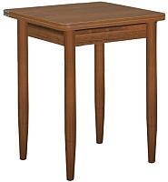 Обеденный стол Рамзес Ломберный ЛДСП 60x60 (орех эко ноче/конусные мореные) -