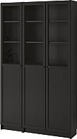 Шкаф с витриной Ikea Билли/Оксберг 492.817.82 -