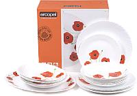 Набор тарелок Arcopal Red Romance P5923 -