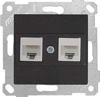 Розетка Mutlusan Rita 2200 138 0184 (черный) -