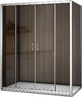 Душевой уголок Good Door Latte WTW-TD-150-C-WE + SP-90-C-WE -