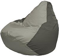 Бескаркасное кресло Flagman Груша Супер Мега Г5.1-351 (серый/тёмно-серый) -