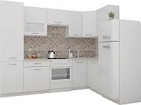 Готовая кухня ВерсоМебель ЭкоЛайт-6 1.4x2.7 правая (белый/белый) -