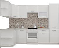 Готовая кухня ВерсоМебель ЭкоЛайт-6 1.3x2.8 левая (белый/белый) -