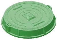 Люк канализационный Сандкор Легкий А30 30 кН (зеленый) -