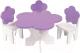 Аксессуар для куклы Paremo Набор мебели. Цветок / PFD120-45 (белый/фиолетовый) -