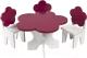 Аксессуар для куклы Paremo Набор мебели. Цветок / PFD120-44 (белый/ягодный) -