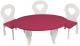 Аксессуар для куклы Paremo Набор мебели. Шик / PFD120-49 (белый/ягодный) -