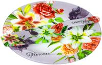 Блюдо для торта Zibo Shelley Цветочный вальс / S3010/2PDQ S077 (с лопаткой) -