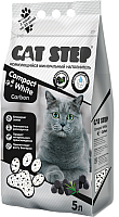 Наполнитель для туалета Cat Step Compact White Carbon / 20313010 (5л) -