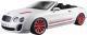 Масштабная модель автомобиля Bburago Бентли Континенталь кабриолет / 18-11035 (белый) -