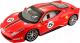 Масштабная модель автомобиля Bburago Феррари 458 гоночная / 18-26302 (красный) -