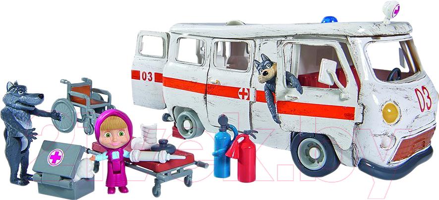 Кукла с аксессуарами Simba, Маша с автомобилем Скорая помощь / 109309863, Китай, пластик  - купить со скидкой