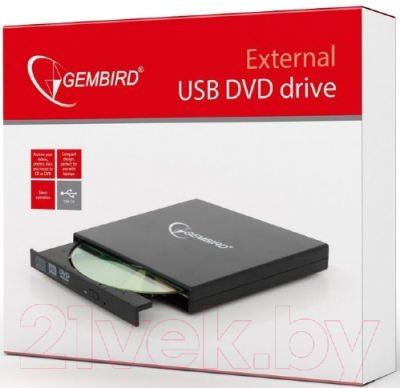 Привод DVD Multi Gembird DVD-USB-02