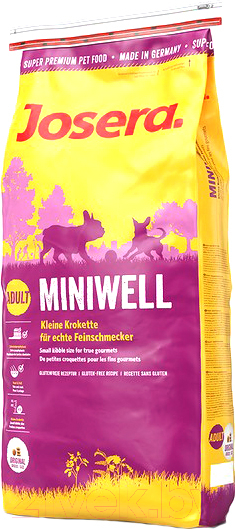 Купить Корм для собак Josera, Adult Miniwell (15кг), Германия
