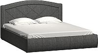 Двуспальная кровать Нижегородмебель и К Виго 160 (грей) -