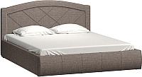 Двуспальная кровать Нижегородмебель и К Виго 160 (латте) -