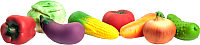 Набор игрушечных продуктов Огонек Набор овощей / С-799 -