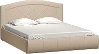 Двуспальная кровать Нижегородмебель и К Виго 160 (савана кемел) -