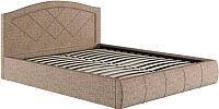 Двуспальная кровать Нижегородмебель и К Виго 160 (хазел) -