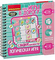 Развивающая книга Bondibon Логическая игра. Сладкое королевство / ВВ3360 -