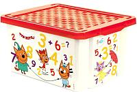 Ящик для хранения Little Angel Три кота Обучайка Считай / 1425 -